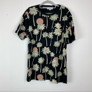 Men's Wesc Tropical Short Sleeve Shirt Size Large
